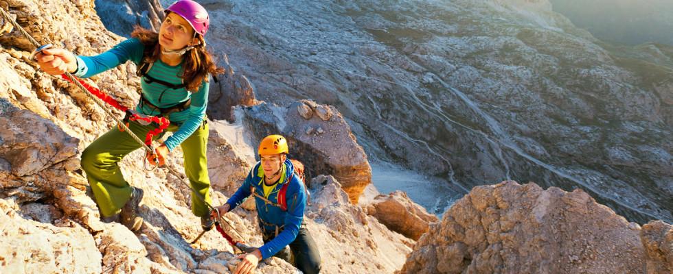 Mit Bergführer von ProAlpina aus Südtirol - Dolomiten auf Klettersteige