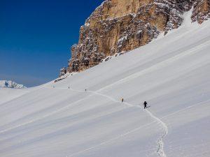 Skidurchquerung Dolomiten mit Bergführer