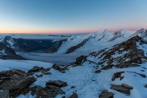 Eiger, Mönch, Jungfrau mit Bergführer