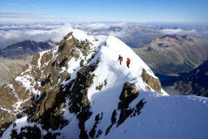 Piz Roseg & Piz Scerscen mit Bergführer