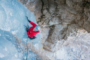 Eisklettern Bletterbachschluch mit Bergführer