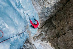 Eisklettern Dolomiten mit Bergführer