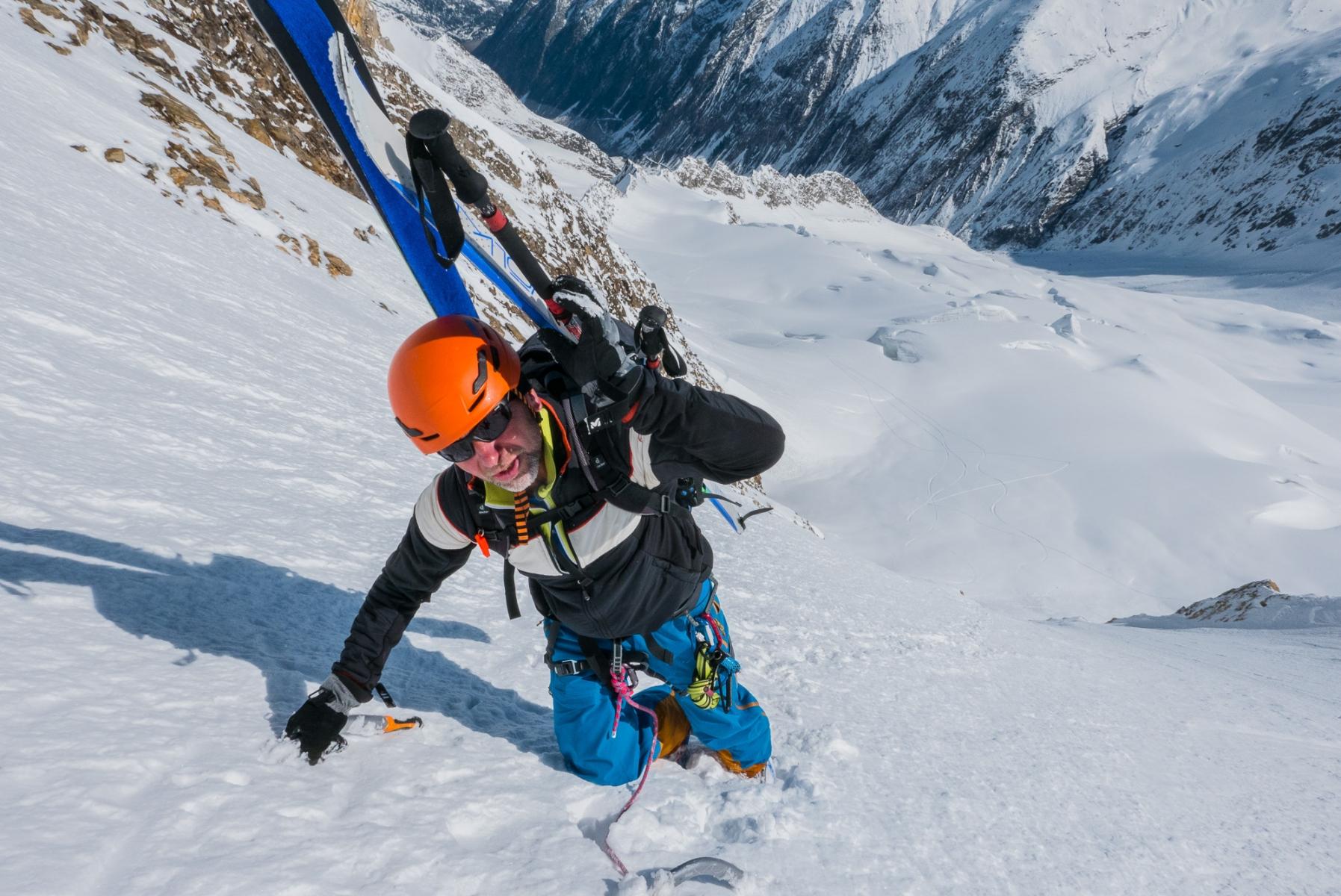 Hochfeiler Nordwand mit Bergführer